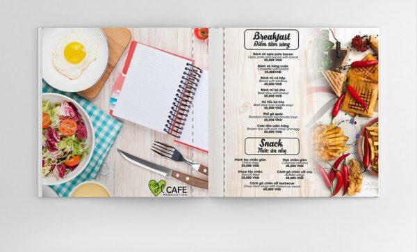 Mẫu menu nhà hàng sang trọng