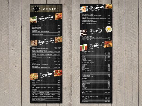 Mẫu menu sáng tạo