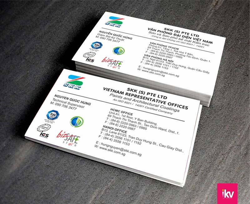 Mẫu card visit đơn giản giúp khách hàng tập trung vào thông tin