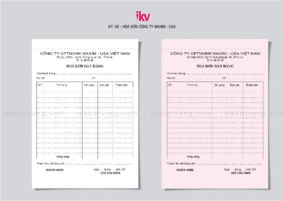 In hóa đơn giá rẻ tại Hà Nội